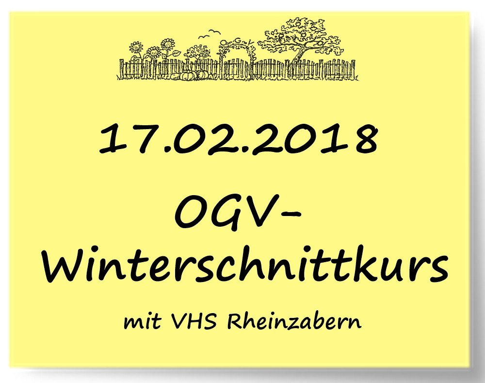 Winterschnittkurs und Kinderaktion